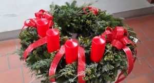 Der Adventskranz ….